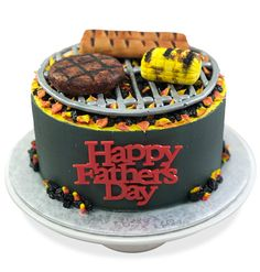 Spoil dad with a fun cake and cupcakes that looks like bbq with hamburgers and hotdogs. Dad Birthday Cakes, Birthday Bbq, 13th Birthday, Cupcake Decorating Supplies, Cookie Decorating, Baking Recipes, Cake Recipes, Dessert Recipes, Desserts