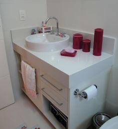 Porta Papel Higienico Para Banheiro, bom falei muitas vezes dos banheiros do ap? aqui no caso voc?