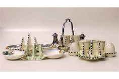 Clarice Cliff toast rack, a Burleigh ware Condition report: see terms and conditions