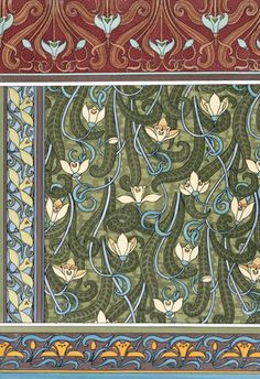 Snowdrops wallpaper, by Eugene Grasset (1845-1917), from Plants and their…