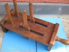 10715 antiker Hutspanner vintage hat press Hutweiter Holz wood