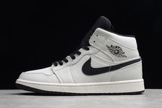 e79e777296f New Air Jordan 1 Mid SE Canvas Light Bone Cone Black-Sail 852542-002