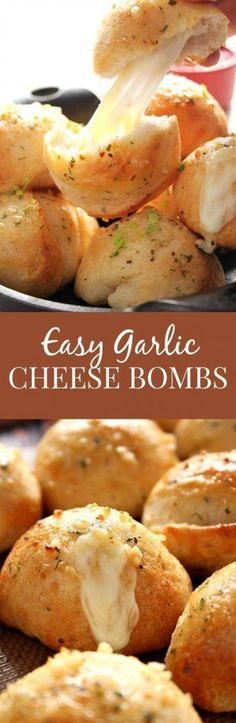 Easy Garlic Cheese Bombs Recipe