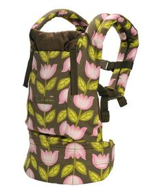 Take a look at this Brown & Pink Petunia Heavenly Holland Carrier by Ergobaby on #zulily today! $69.99, regular 145.00