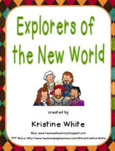 This product includes 8 foldable graphic organizers that help students learn about different early explorers of the New World (Christopher Columbus, John Cabot, Juan Ponce de León, Hernando Cortés, Jacques Cartier, Pedro Menéndez de Avilés, Sir Francis Drake, and Henry Hudson). It has clipart pictures of each explorer that students can cut out and glue, as well as options for differentiation and assessment. It can also be glued into a social studies notebook. $
