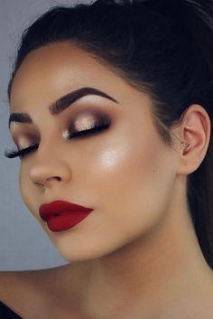 Dark Red Lipstick Makeup Ideas picture 2