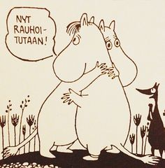 """lumipolku: """"Let's calm down."""" By Tove Jansson Moomin Cartoon, Tove Jansson, Calm Down, Raph, Life, Fictional Characters, Bipolar Disorder, Cartoons, Artists"""