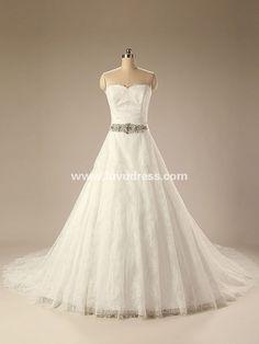 Elegant sweetheart guangzhou wedding dress with beaded sash