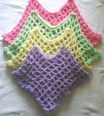 Quick As a Wink Crochet Poncho Pattern Child sizes 2-14