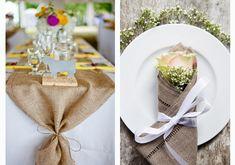 decoração de mesas em casamento no campo