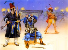 Akbar's Mughal infantry & artillery, late 16th–early 17th centuries