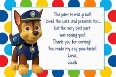 Custom Made Paw Patrol Birthday Invitation Paw by MyBabiesBreath