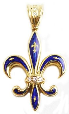 Overstock add a lovely touch to any outfit with this 10 karat gold 18k gold enamel faberge fleur de lis pendant aloadofball Images