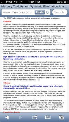 Heavy metal detox- chlorella and cilantro