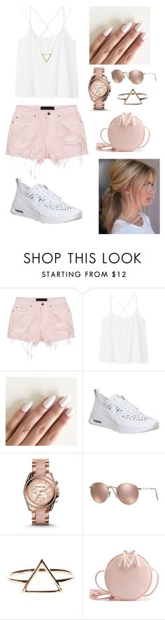 """Unbenannt #69"" by ginger-01 on Polyvore featuring Mode, Alexander Wang, MANGO, NIKE, Michael Kors, Ray-Ban und Wanderlust + Co"