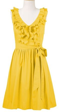 Rehearsal dinner dress? Could be really fun to wear yellow or navy!
