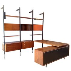 Exceptional George Nelson CSS Wall Unit with Desk and Credenza by Herman Miller at 1stdibs