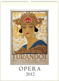Vintage Opera Poster Wall Calendar $20