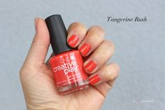Tangerine Rush, CND Creative Play Nail Lacquer Sunset Bash collection