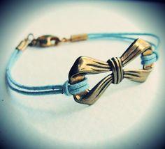 Vintage Bow bracelet by JewelryByMaeBee on Etsy,