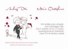 Esküvői értesítő SSO63 - modern esküvői értesítő online