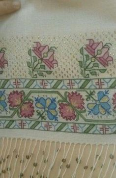 This Pin was discovered by Ayt Cross Stitch Boarders, Cross Stitch Art, Cross Stitch Embroidery, Cross Stitch Patterns, Palestinian Embroidery, Bargello, Diy Crochet, Design Crafts, Handicraft