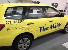Vinyl Lettering for The Maids Home Services in  Brookfield, CT. #vehiclegraphics #vehiclelettering #vehicledecal