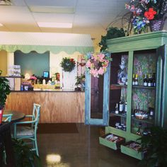 Inside our new flower shop