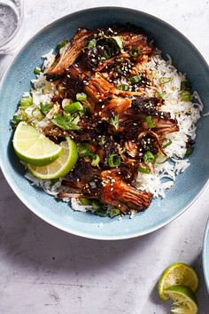 Slow Cooker Honey-Soy Braised Pork With Lime and Ginger Recipe - NYT Cooking Entrees -- Pork Slow Co Slow Cooker Pork, Slow Cooker Recipes, Crockpot Recipes, Cooking Recipes, Pork Recipes, Asian Recipes, Ethnic Recipes, Asian Foods, Braised Pork