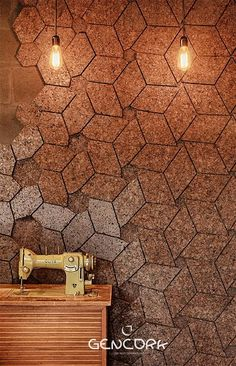 Cork Tiles for Walls Amazing Cork Patterns Series - Peritile Cork Wall Tiles, Kitchen Wall Tiles, Interior Design Tips, Interior Decorating, Cork Panels, Cork Flooring, Home Decor Kitchen, Kitchen Ideas, Home Decor Trends