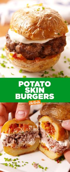 Skin Burgers Bet you never thought to do THIS to your burger. Get the recipe at .Bet you never thought to do THIS to your burger. Get the recipe at . Burger Recipes, Potato Recipes, Beef Recipes, Appetizer Recipes, Cooking Recipes, Healthy Recipes, Appetizers, Recipies, Potato Dishes