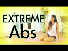 Great extreme abs workout 1 by Cassey Ho! Extreme Ab Workout, Hard Ab Workouts, Effective Ab Workouts, Abs Workout Video, Ab Workout At Home, At Home Workouts, Youtube Workout, Exercise Videos, Exercise Routines