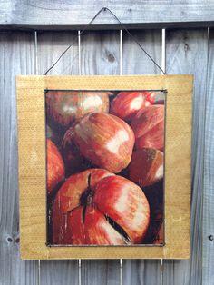 """Market Tomatoes"" yellow (wood print)"