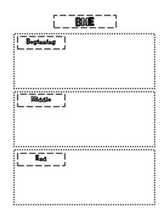 beginning middle and end graphic organizer | BME- Beginning, Middle, End Graphic Organizer
