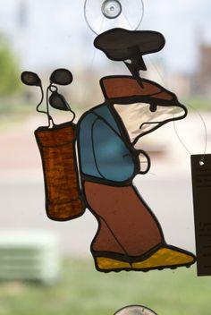 Golfer in a bad mood by Gail Gavlock