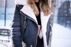 Acne Jacket + settled snow i NYC
