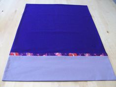 Purple pillowcase with French seams by JamesRiverCrafts on Etsy
