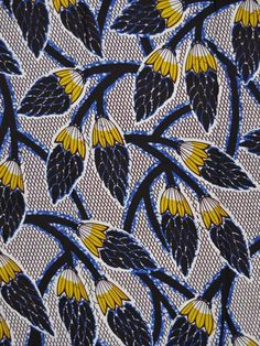 African print. Vegetation. #AfricanPrint #AfricanFashion #Textile #Fabric #Print #Fashion