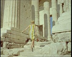 Gaye Ashwood (the daughter of legendary British Pathé journalist Terry Ashwood) walking up the steps of the Acropolis in Click the still to view the classic travelogue. Athens Apartment, Samos, Acropolis, Travelogue, Photo Archive, World Cultures, Greek Islands, Beautiful Beaches, Documentary