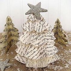 last minute christmas easy vintage paper trees, crafts, seasonal holiday d cor