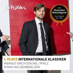 #DeutscherRotweinpreis 1. Platz Internationale Klassiker: Syrah Heiligenberg Pfalz 2014, Weingut Erich Stachel, Maikammer #Rotweinpreis #Deutscherwein