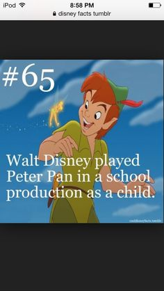I did not know that about Walt Disney