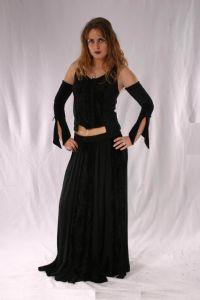 Gothic Full Length Skirt. Gothic Full Length Viscose Skirt. 6 Colours available. By Bares~87-1209