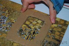 Checking art through a cardboard viewfinder? Gustav Klimt for week 6 wrap up? Art History Lessons, Art Lessons For Kids, Art Activities For Kids, Art Lessons Elementary, Preschool Art, Art For Kids, Klimt Art, Gustav Klimt, Famous Artists For Kids