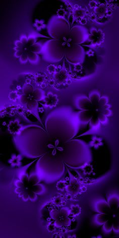 Purple Flowers by EsmeraldEyes on DeviantArt