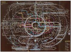 まるでマンダラ―英語で書かれた東京の路線図がかっこいい