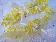 Yellow Belle Garter by BespokeBridalSA on Etsy, $20.00