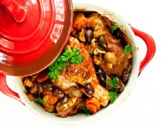 Low FODMAP Recipe - Chicken cacciatore with potatoes