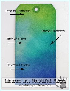 Distress Beautiful Blends | Shades of Blue and Green | www.tammytutterow.com
