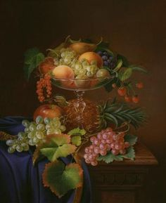 still life with fruit; forster; 1870; 22x27; 150